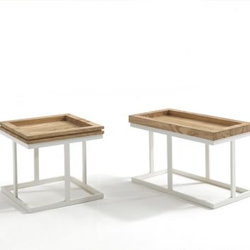 LOW SQUARE SOLID WOOD COFFEE TABLE ZOE | SQUARE COFFEE TABLE | RIVA 1920