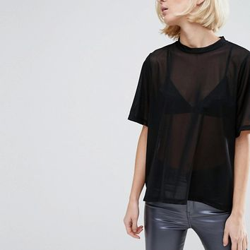 Dr Denim Sheer Top at asos.com