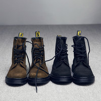 On Sale Hot Deal Leather With Heel Winter Dr. Martens England Style Couple Boots [9553596746]