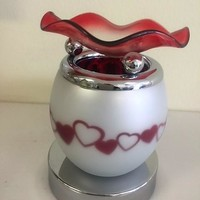 In line Heart touch fragrance lamp, aromatic oil burner, wax melter