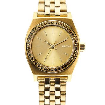 Nixon Small Time Teller - All Gold Crystal