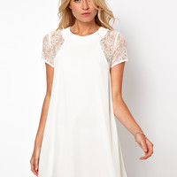 Love | Love Swing Dress with Lace Insert at ASOS
