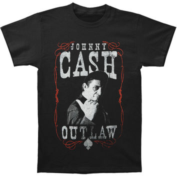 Johnny Cash Men's  Outlaw T-shirt Black Rockabilia