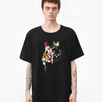 Embroidered Birds of Heaven Tee