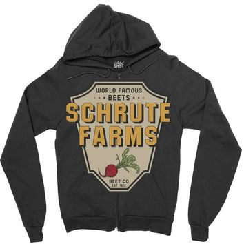 World Famous Beets Schrute Farms Zipper Hoodie