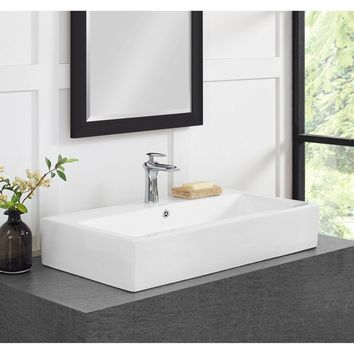 30 Inch Wide Bathroom Vessel Sink