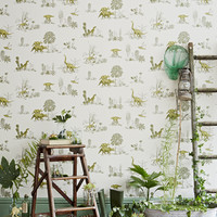 Dino Wallpaper-Yellow Green - Sian Zeng