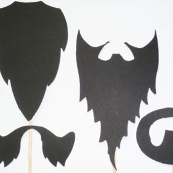 6 - Beards on a Stick photobooth PROPS wedding photo booth prop Mustashe bash