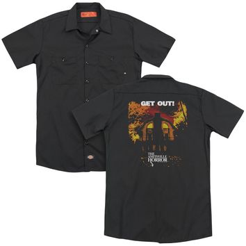 Amityville Horror - Get Out(Back Print) Adult Work Shirt