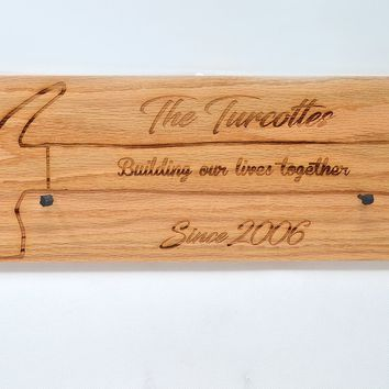 Hammer Display Board -  Building our lives together with Last Name and Date