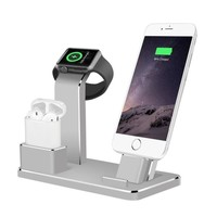 4 in 1 Aluminum Charging Stand Charging Docks Holder for Apple Watch for AirPods for iPhone SP05 Dropship