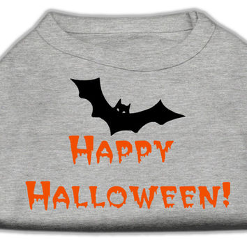Happy Halloween Screen Print Shirts Grey S (10)