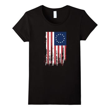 4th of July Betsy Ross 13 colonies American Flag T-shirt