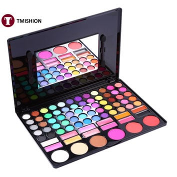 78 Colors Makeup Palette Eye Shadow Blush Pressed Powder Lip Gloss Cosmetic Tools Professional