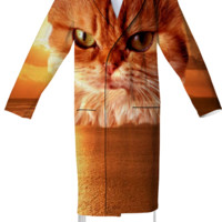 Red Cat Cotton Robe