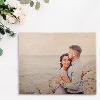 Custom Printed Unique Wedding Gift Photo on Wood 5 Year Anniversary Gift New Mom Gift Dad Gift Personalized Photo Gift on Wood