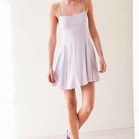 Kimchi Blue Sydney Straight-Neck Fit + Flare Mini Dress - Urban Outfitters