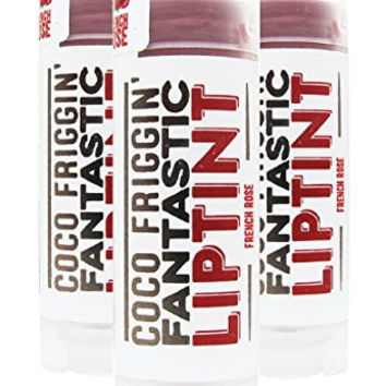 All Natural Vegan Organic Tinted Lip Balm - Coco Friggin' Fantastic Lip Tint (French Rose) 3 Pack by Handmade Heroes