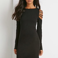 Strappy Cutout Shoulder Dress