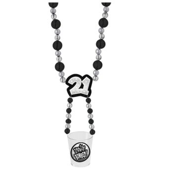 21 Party Swinger Party Beads w/Shot Glass
