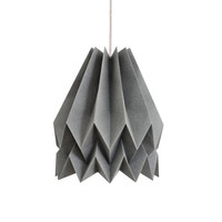 Origami Lamp | Plain Alpine Grey | Design Lamp Shade | FREE SHIPPING