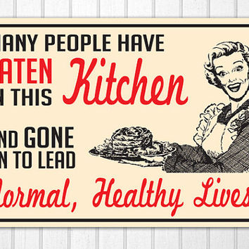 Retro 1940s 1950s Kitchen Cooking Sign Hand Screened on Wood