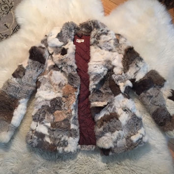 Vintage Pieced Rabbit Fur Jacket (Small/Indie Brands)