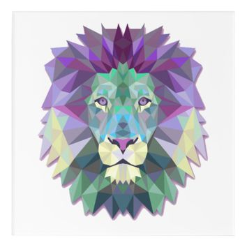 Colorful Lion Acrylic Wall Art