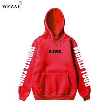 Justin Bieber Purpose Tour Hip Hop Hoodies 2017 Winter Autumn New Men Hoodies Jerseys in Kanye West Women Men Hoody Sweatshirts