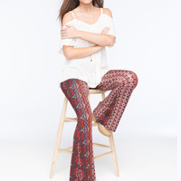 PATRONS OF PEACE Printed Knit Womens Flare Pants | Pants & Joggers