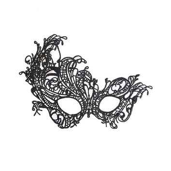 Lace Mask Halloween Black Cutout Prom Party Mask