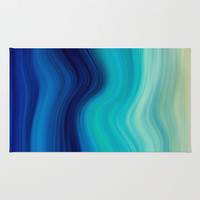 SEA BEAUTY 2 Area & Throw Rug by Catspaws | Society6