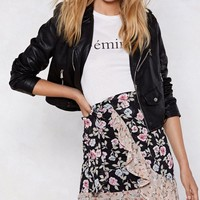 Go With the Flow-er Wrap Skirt