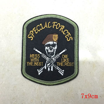 Biker Iron On Patch Skull Embroidered Punk Patch 5pcs/Lot