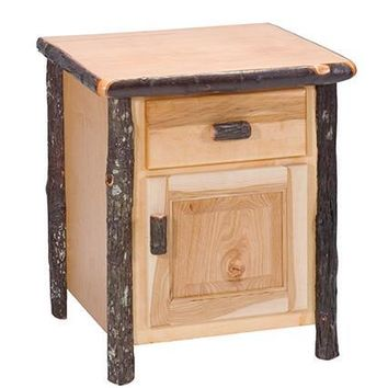 Rustic Hickory Enclosed Nightstand