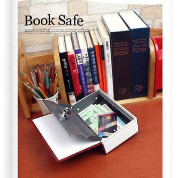 Home Security Dictionary Book Safe Storage Key Lock Box for Cash Jewelry Small (11.5*8*4.5cm)