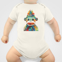 Sock Monkey Art - Your New Best Friend - By Sharon Cummings Baby Clothes by Sharon Cummings