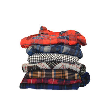 Mystery FLANNEL shirt 70s 80s 90s GRUNGE oversized shirt long sleeve plaid / indie hipster shirt 90s / casual small medium large XL