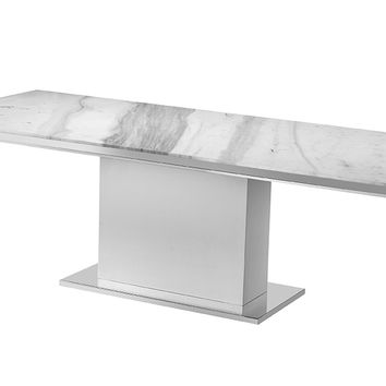 Nazario Modern White Dining Table