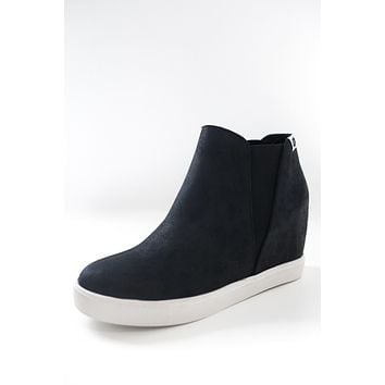 Tylie Sneaker Wedges - Black