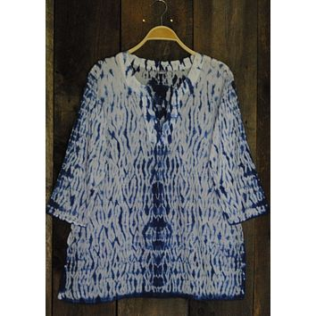 Shibori Dyed Tunic Navy