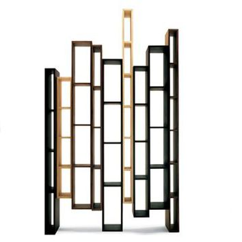 Ceccotti Skyline Bookshelf - Style # 75360, Modern bookcases, contemporary bookcases, books shelves at SWITCHmodern.com
