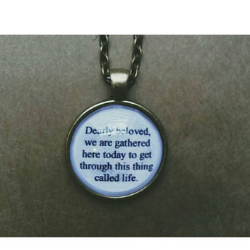Prince let's go crazy lyric quote necklace- Dearly Beloved lyric quote necklace