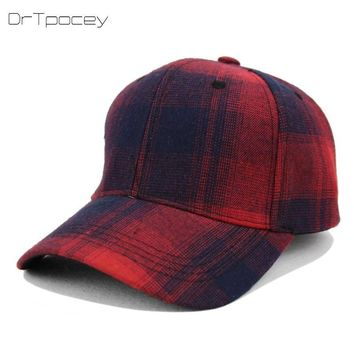 Trendy Winter Jacket 2018 New Plaid Striped Baseball Cap Fashion With Rock Hat Sun Hat Male And Female Tide Hat Travel Outdoor Snapback Bone Caps AT_92_12
