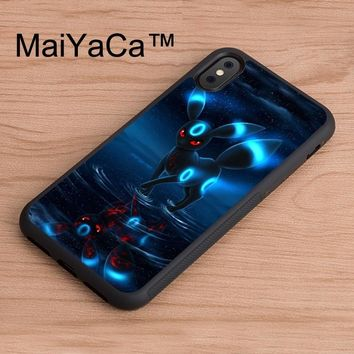 MaiYaCa RARE S UMBREON Case For iphone X Patterned Full Protective TPU Phone Cases For iPhone X Back CoverKawaii Pokemon go  AT_89_9