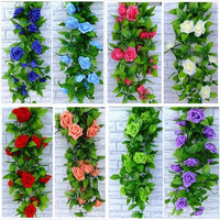 2.5m Artificial Garland Silk Flowers Vine Ivy Home Wedding Garden Decor #DDBS = 1933072580