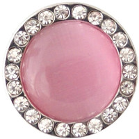 Pink Cat Eye Stone 20mm 3/4""
