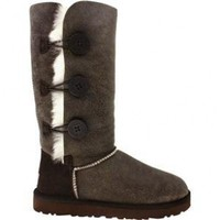 UGG® Australia Women's Bailey Button Bomber Boots in Bomber Jacket Chocolate-(11)