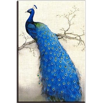 Best peacock canvas painting products on wanelo for Where can i buy peacock feathers craft store
