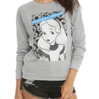 Disney Alice In Wonderland Curiouser & Curiouser Girls Pullover Top
